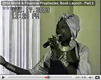2004 World & Financial Prophecies, Book Launch - Part 2